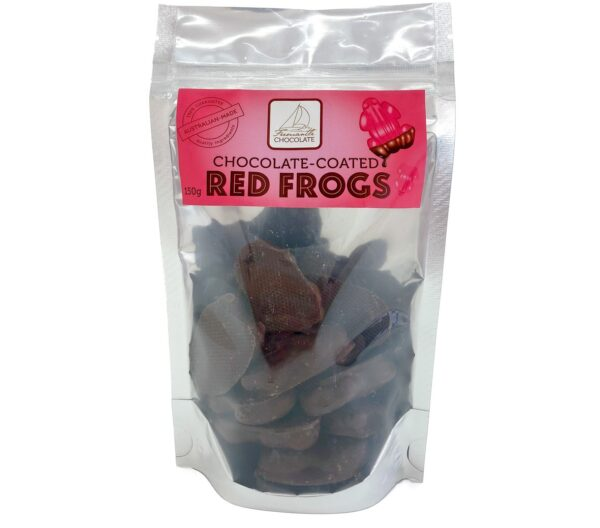 Chocolate Coated Red Frogs