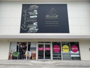 Outside of the new Fremantle Chocolate website. Part of fremantle chocolate history