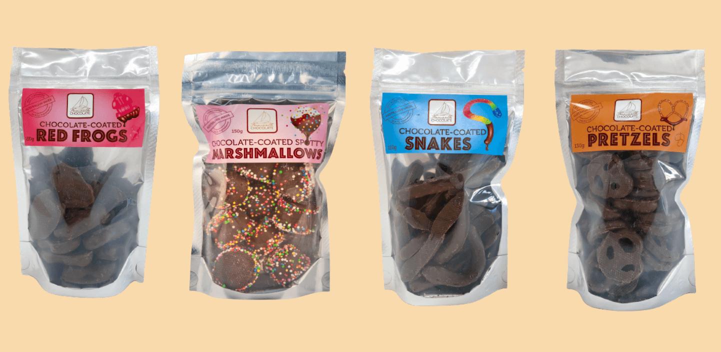 Chocolate coated treats