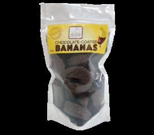 Chocolate coated bananas